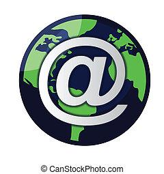 globo, vetorial, email, /