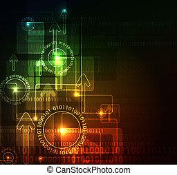 glowing, abstratos, fundo