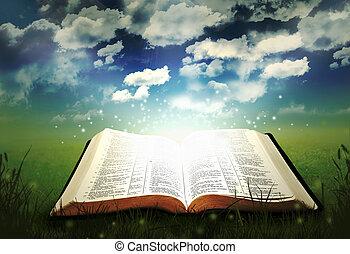 glowing, bíblia