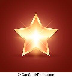 glowing, estrela