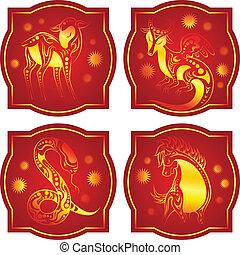 golden-red, horóscopo chinês