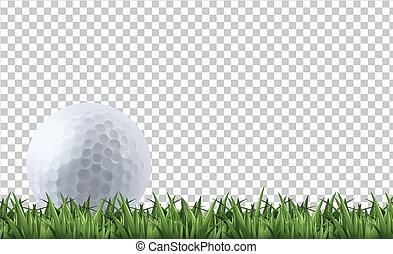 golfe, capim, bola
