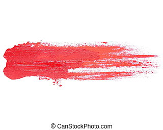 golpes, grunge, escova, pintura, vermelho, óleo