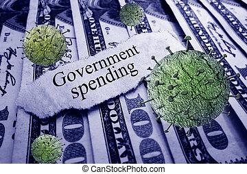 governo, gastando, coronavirus, notícia, manchete, dinheiro