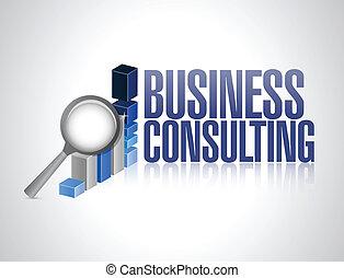 gráfico, consultar, negócio