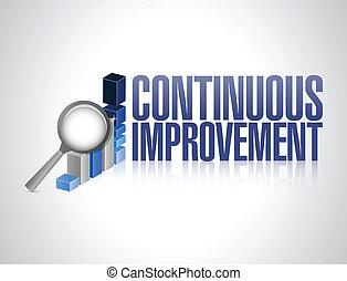 gráfico, contínuo, ilustração negócio, melhoria