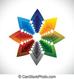 gráfico, estrela, coloridos, abstratos, symbol-, criativo, vetorial, desenho