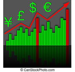gráfico, income., crescimento, financeiro, vector.