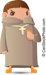 gráfico, personagem, pastor, vetorial, caricatura, homem