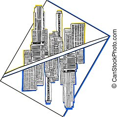 gráficos, cidade