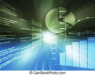 gráficos, spreadsheet