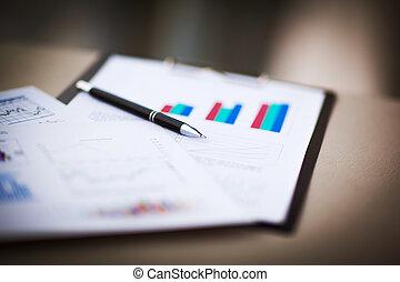 gráficos, sucedido, negócio