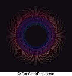 gradiente, arco íris, círculo, vetorial