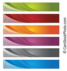 gradiente, bandeiras, digital, linhas, &