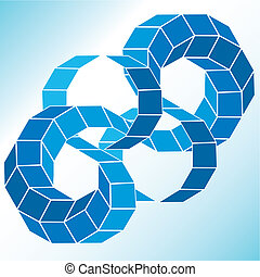 gradiente, figura, vetorial, polyhedral, estrela, 3d.
