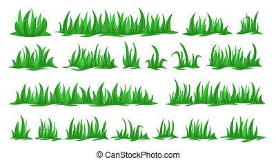grama verde, cobrança