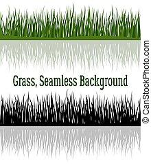 grama verde, silueta