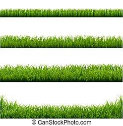 grande, fronteiras, jogo, grama verde
