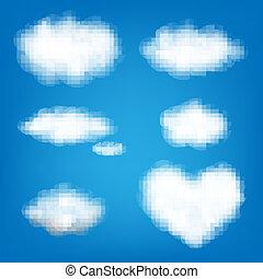 grande, jogo, nuvens