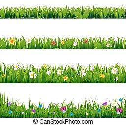 grande, quadro, flores, jogo