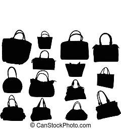 grande, vetorial, -, cobrança, bolsas