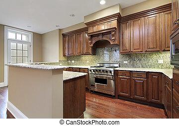 granito, backsplash, cozinha