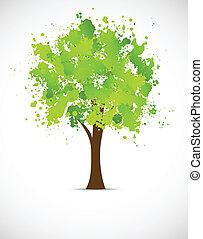 grunge, abstratos, árvore