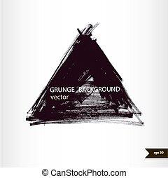 grunge, banner., vindima, textura, mão, aquarela, experiência., respingo, fundo, desenhado