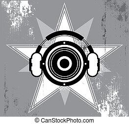 grunge, desenho, música, estrela