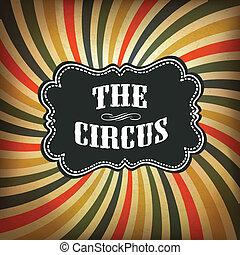 grunge, experiência., circo, vetorial, eps10