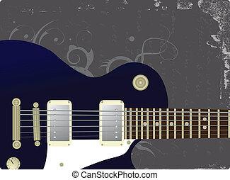 grunge, fundo, -, música, vetorial