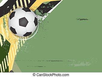 grunge, futebol, desenho, fundo