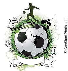 grunge, futebol, desenho