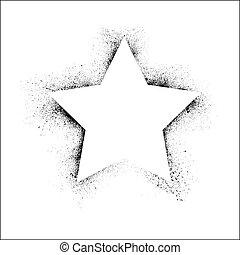 grunge, quadro, estrela