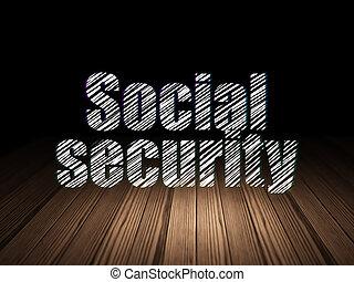 grunge, sala, escuro, proteção, segurança social, concept: