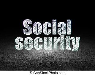 grunge, sala, privacidade, escuro, segurança social, concept: