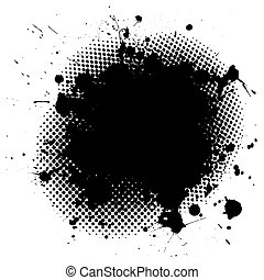 grunge, splat, tinta