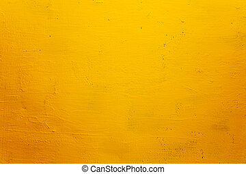 grunge, textura, fundo, parede, amarela