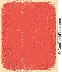 grunge, textura, texto, antigas, vetorial, paper., vermelho