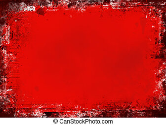 grunge, vermelho