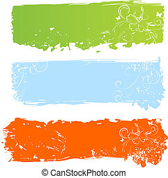 grungy, bandeiras, fl, multicolored