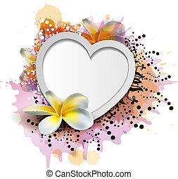grungy, corações, coloridos