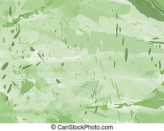 grungy, experiência verde, tinta