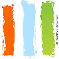 grungy, multicolor, bandeiras, vertical
