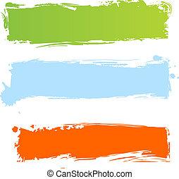 grungy, multicolor, bandeiras
