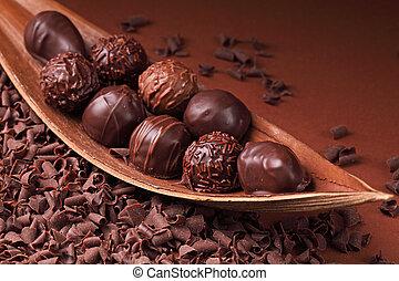 grupo, chocolate
