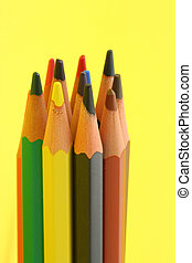 grupo, coloridos, pe