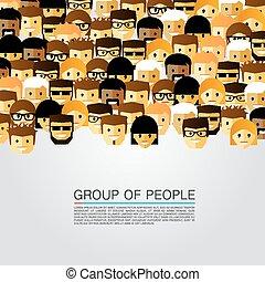 grupo grande, pessoas