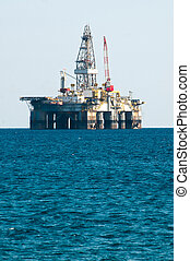 guarneça, óleo perfura, mar, plataforma
