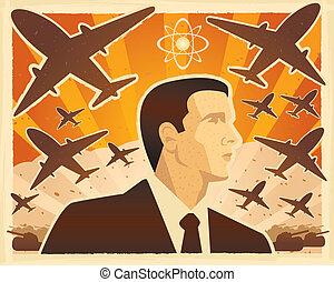 guerra, ilustração
